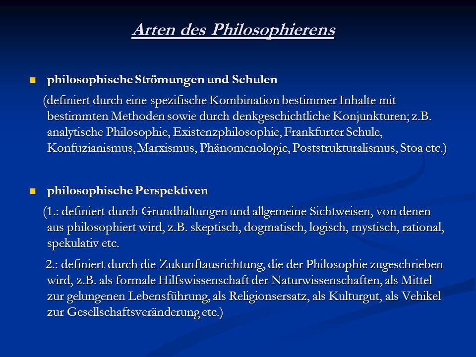 Arten des Philosophierens