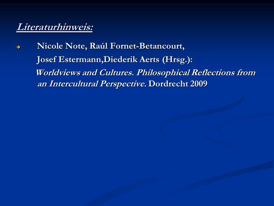 Literaturhinweis: Nicole Note, Raúl Fornet-Betancourt,
