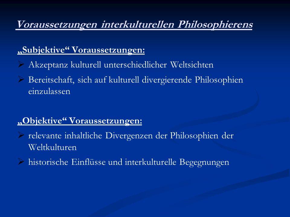 Voraussetzungen interkulturellen Philosophierens