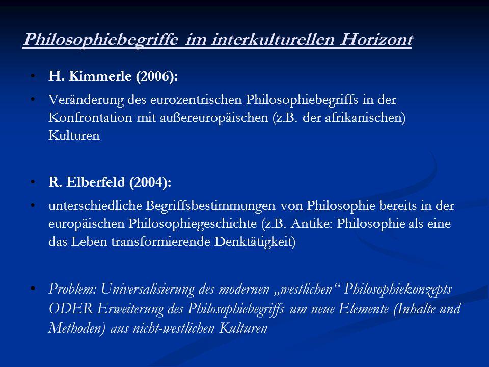 Philosophiebegriffe im interkulturellen Horizont