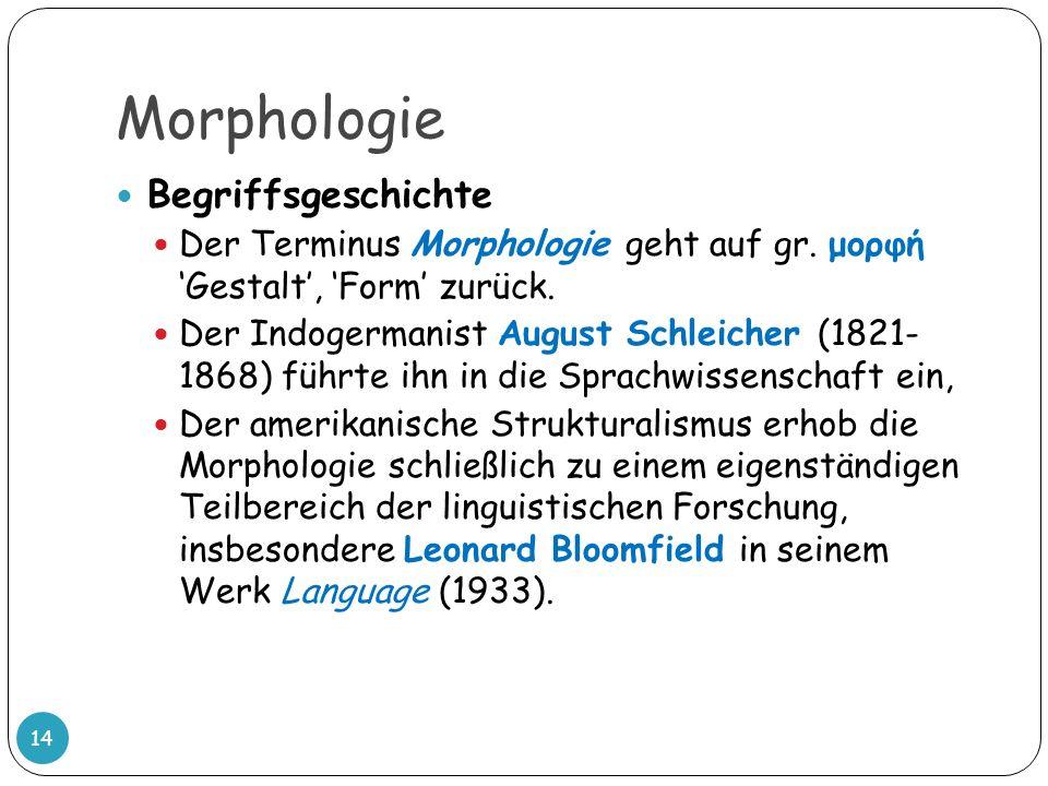 Morphologie Begriffsgeschichte