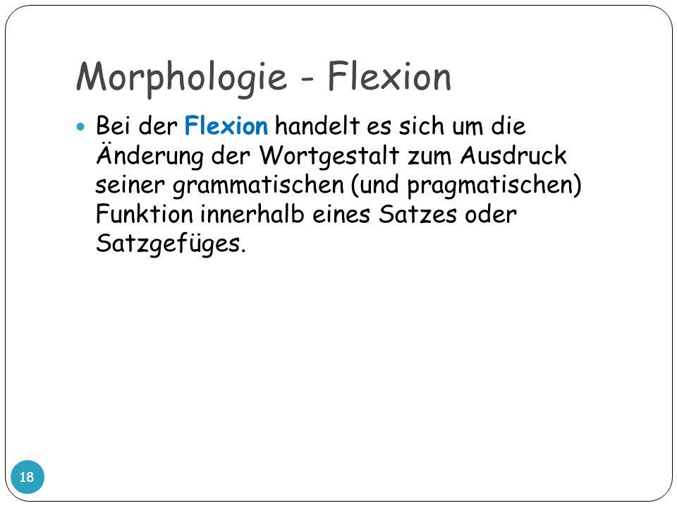 Morphologie - Flexion