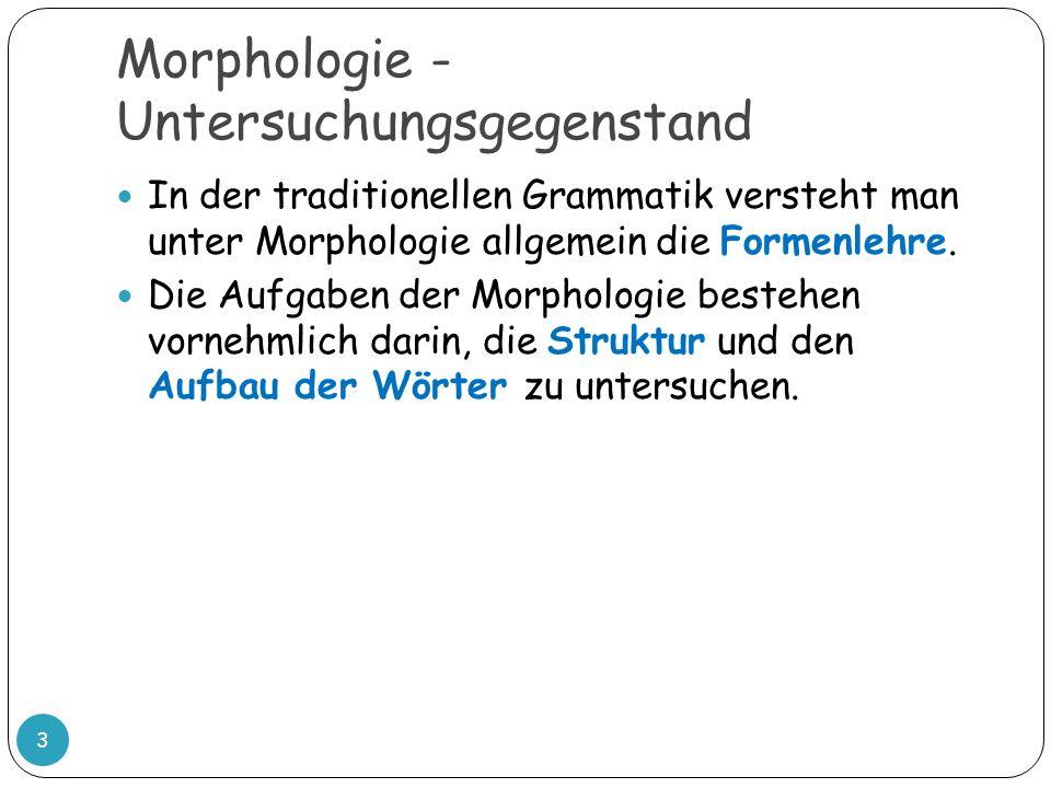 Morphologie - Untersuchungsgegenstand
