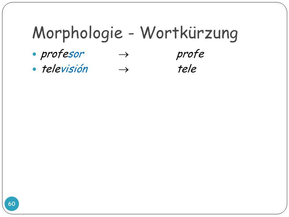 Morphologie - Wortkürzung