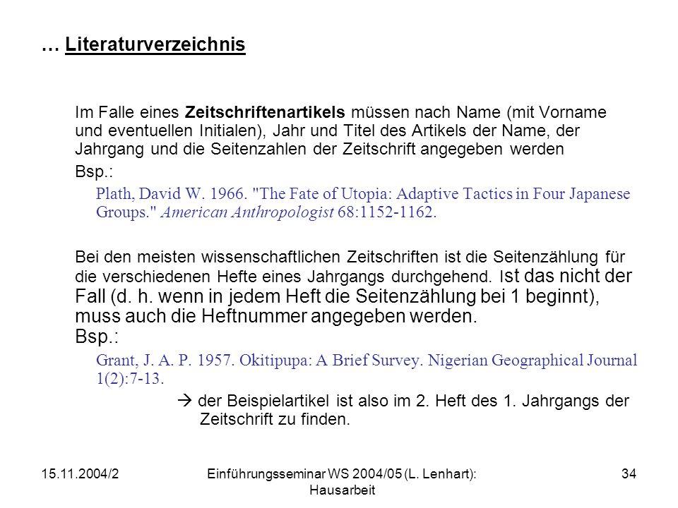 … Literaturverzeichnis