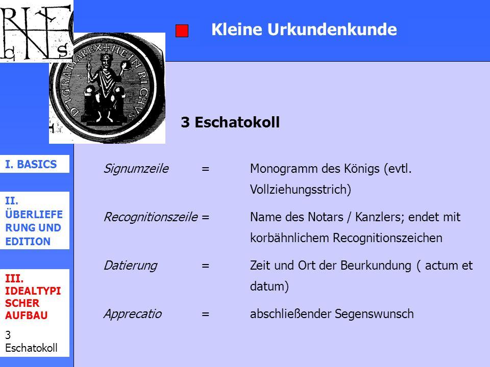 Kleine Urkundenkunde 3 Eschatokoll
