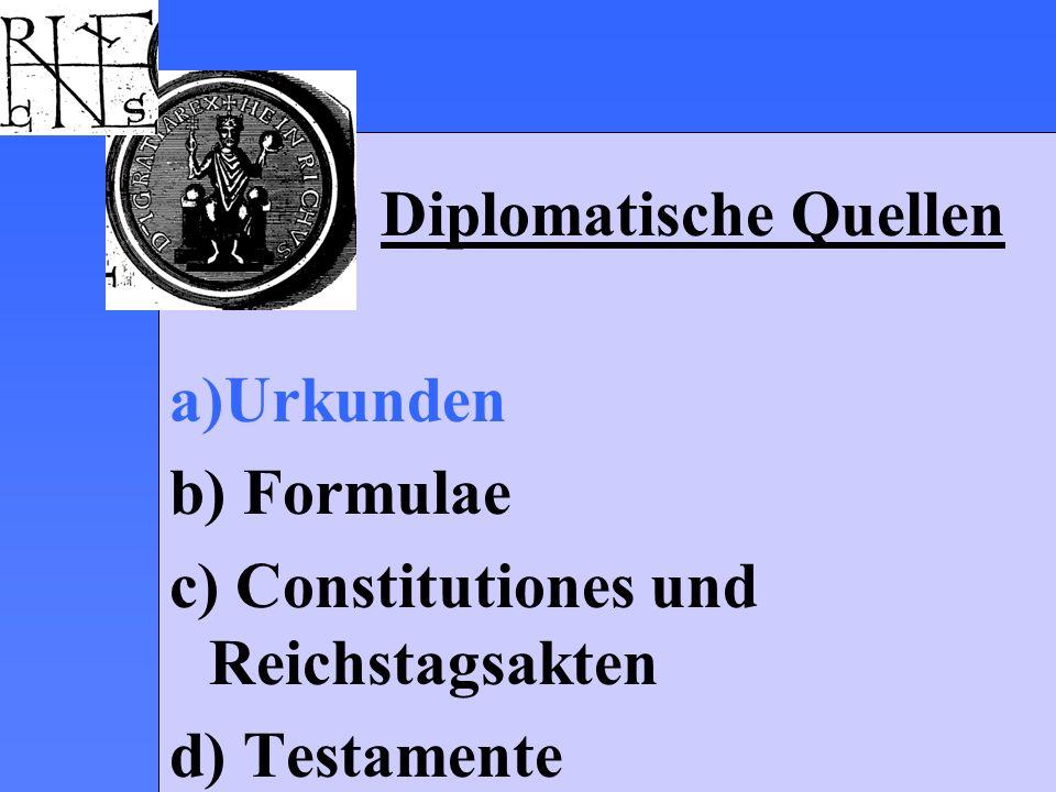 Diplomatische Quellen