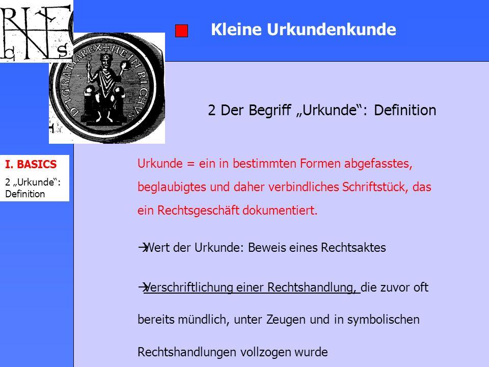 """2 Der Begriff """"Urkunde : Definition"""
