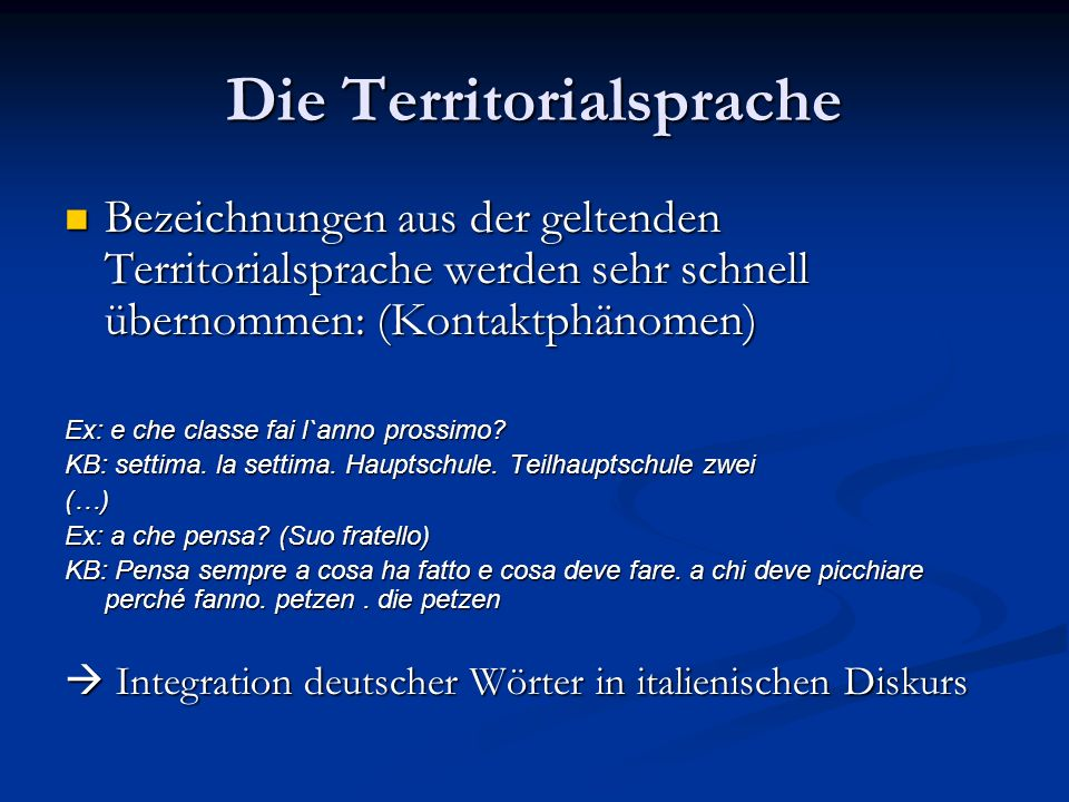 Die Territorialsprache