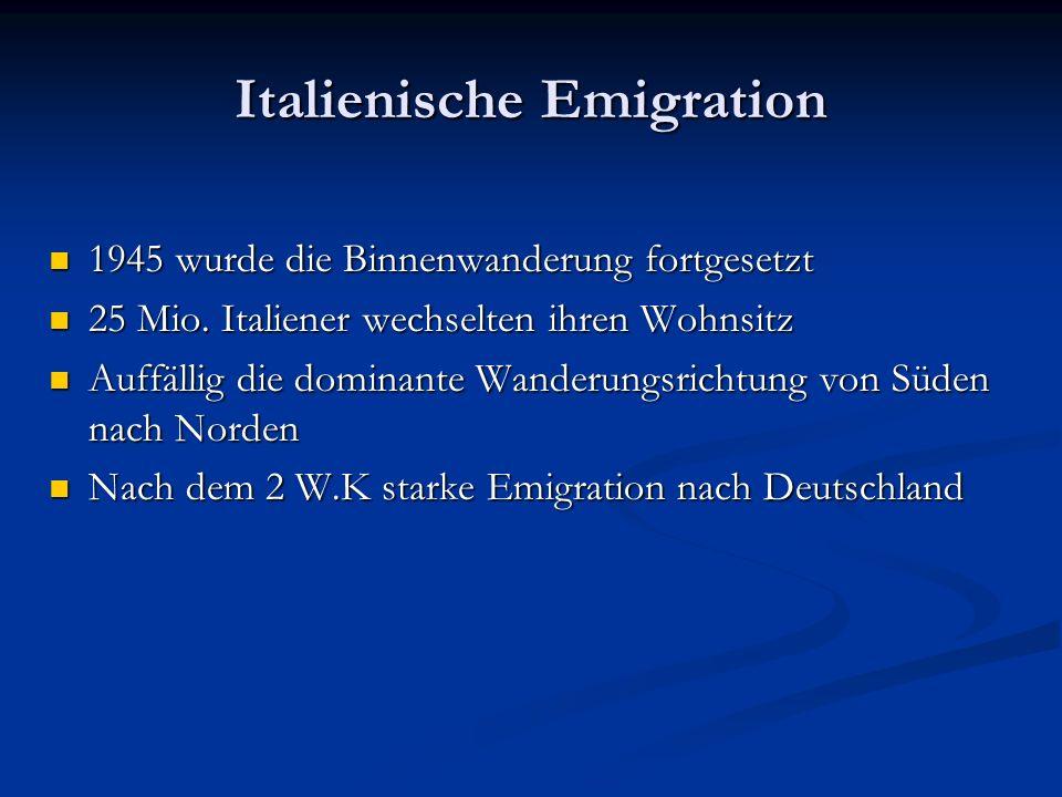 Italienische Emigration