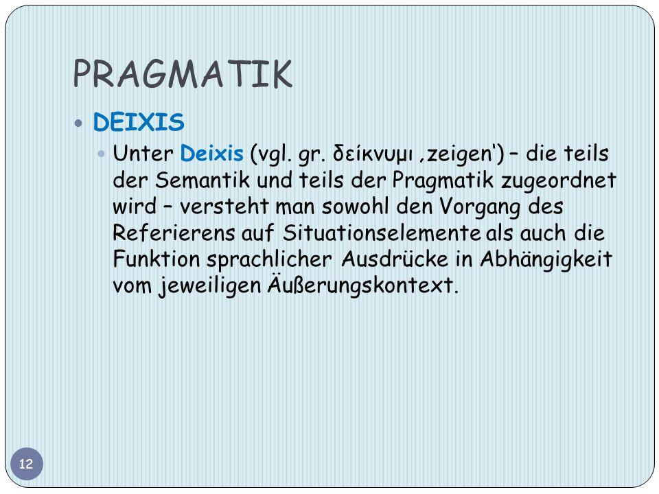 PRAGMATIK DEIXIS.