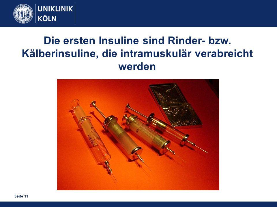 Die ersten Insuline sind Rinder- bzw