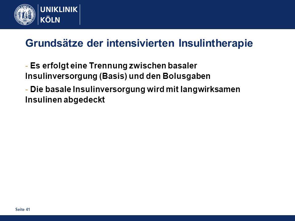 Grundsätze der intensivierten Insulintherapie