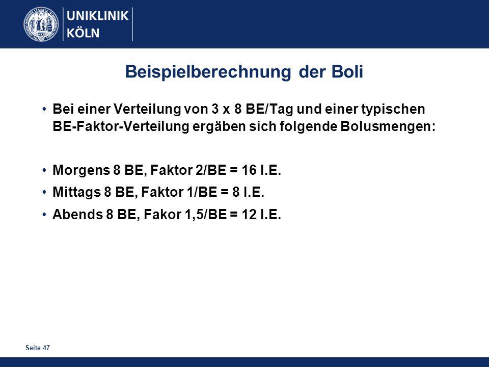Beispielberechnung der Boli