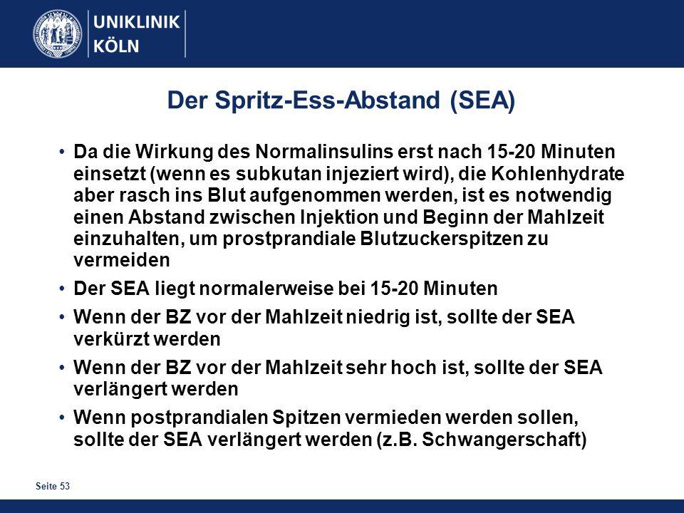 Der Spritz-Ess-Abstand (SEA)