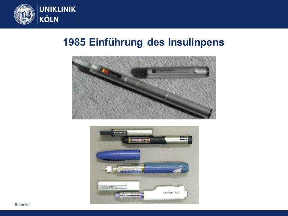 1985 Einführung des Insulinpens