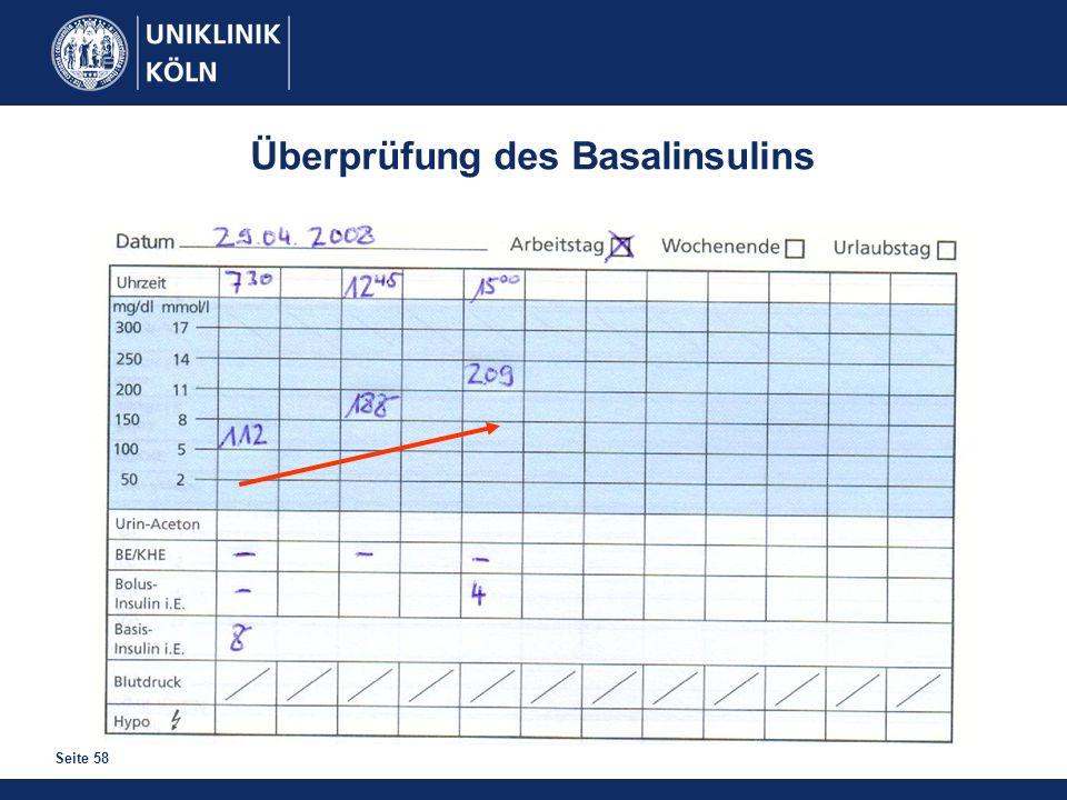 Überprüfung des Basalinsulins