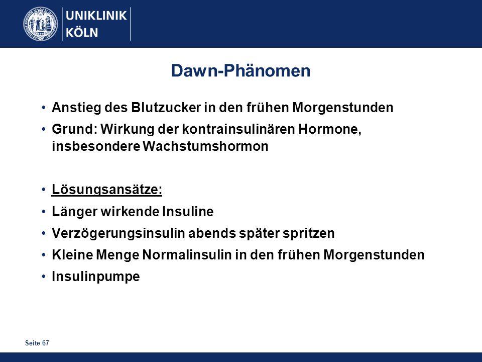 Dawn-Phänomen Anstieg des Blutzucker in den frühen Morgenstunden