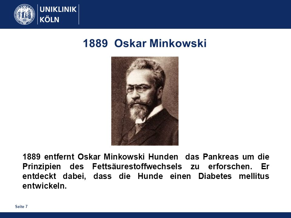 1889 Oskar Minkowski