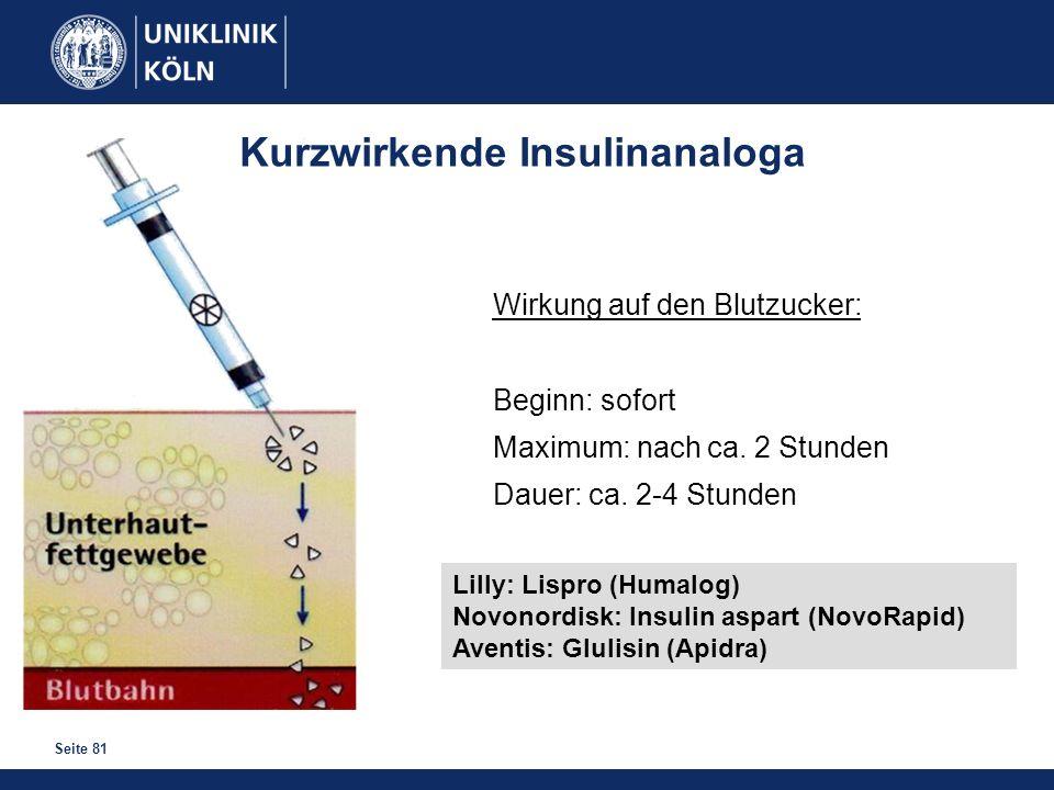 Kurzwirkende Insulinanaloga