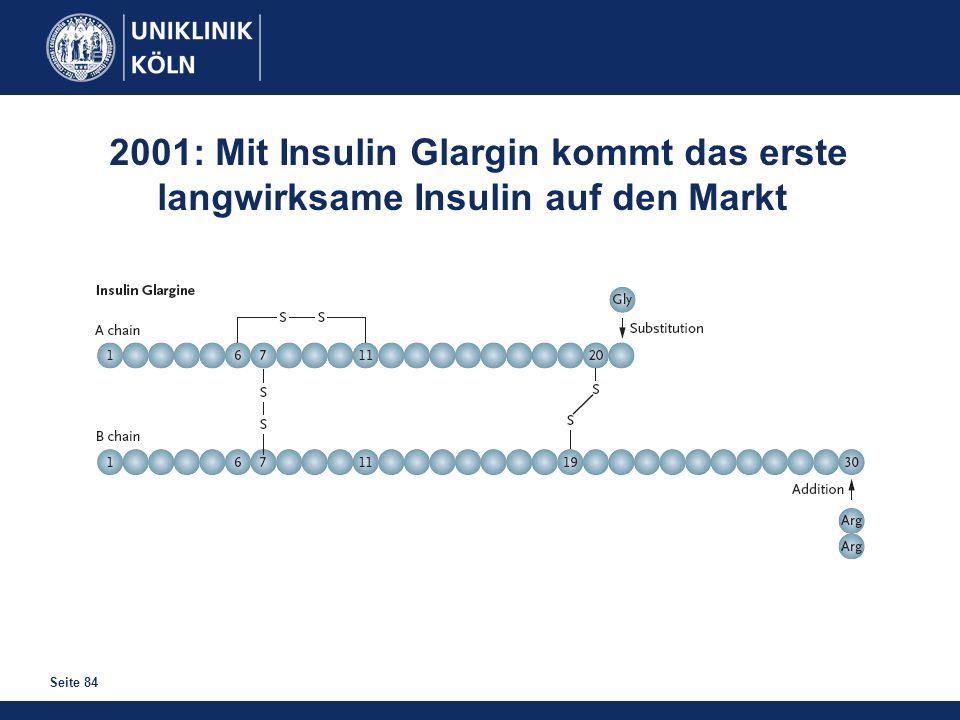2001: Mit Insulin Glargin kommt das erste
