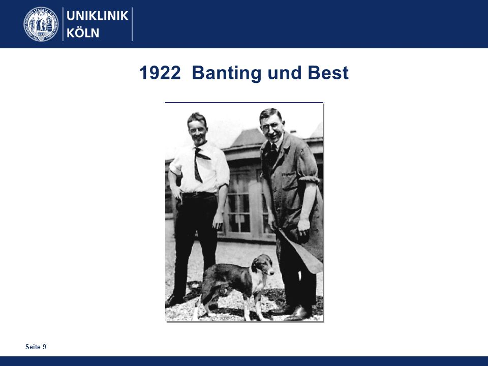 1922 Banting und Best