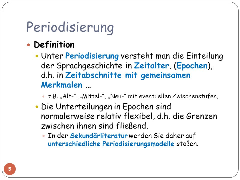 Periodisierung Definition