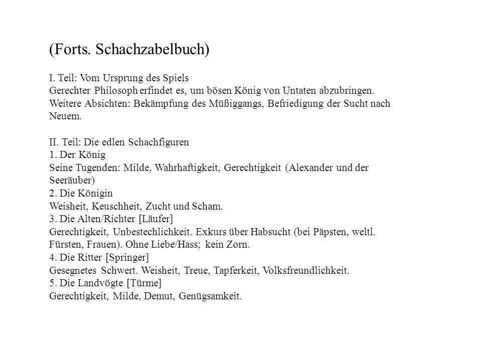 (Forts. Schachzabelbuch)