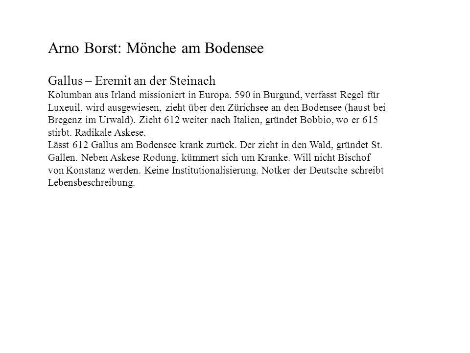 Arno Borst: Mönche am Bodensee
