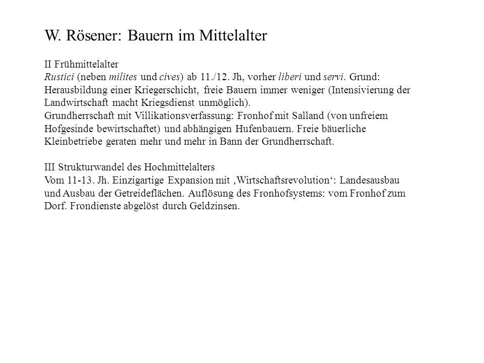 W. Rösener: Bauern im Mittelalter