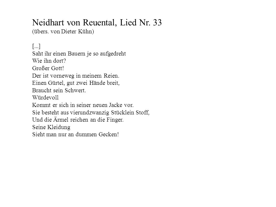 Neidhart von Reuental, Lied Nr. 33