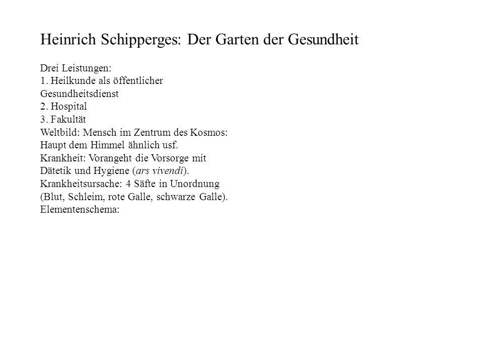 Heinrich Schipperges: Der Garten der Gesundheit