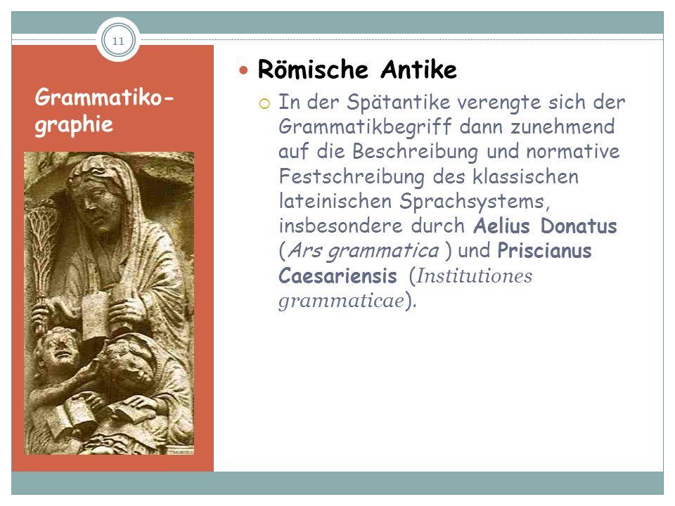 Grammatiko-graphie Römische Antike