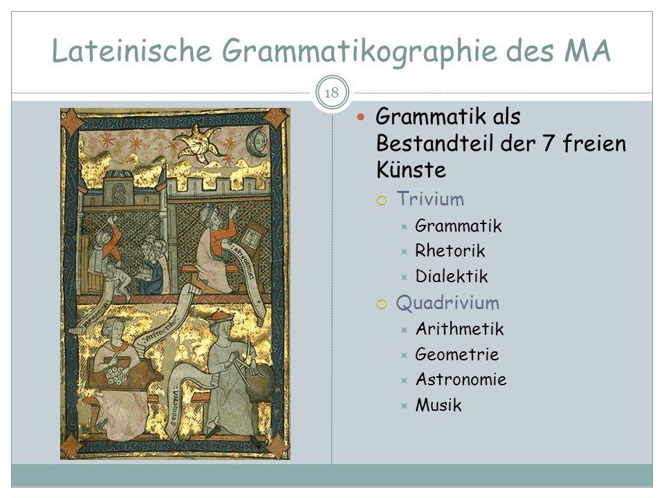 Lateinische Grammatikographie des MA
