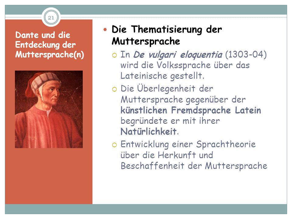 Dante und die Entdeckung der Muttersprache(n)