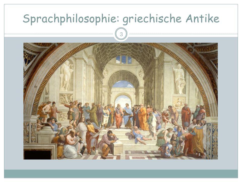 Sprachphilosophie: griechische Antike