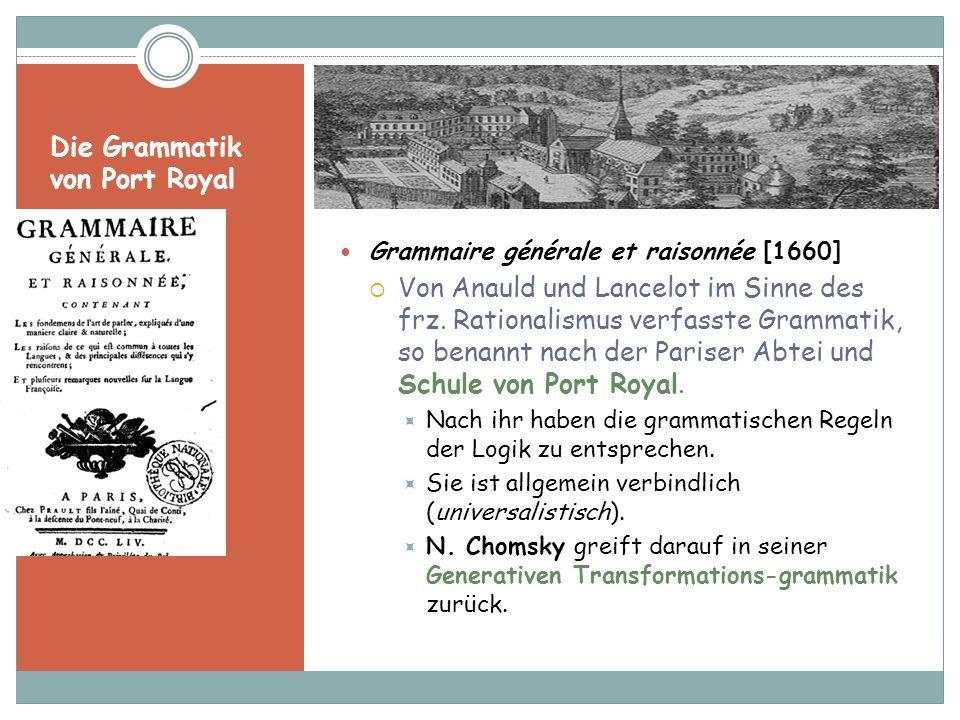 Die Grammatik von Port Royal