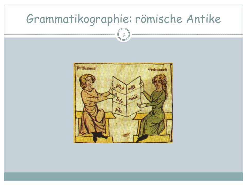 Grammatikographie: römische Antike