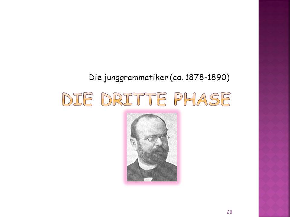 Die junggrammatiker (ca. 1878-1890)