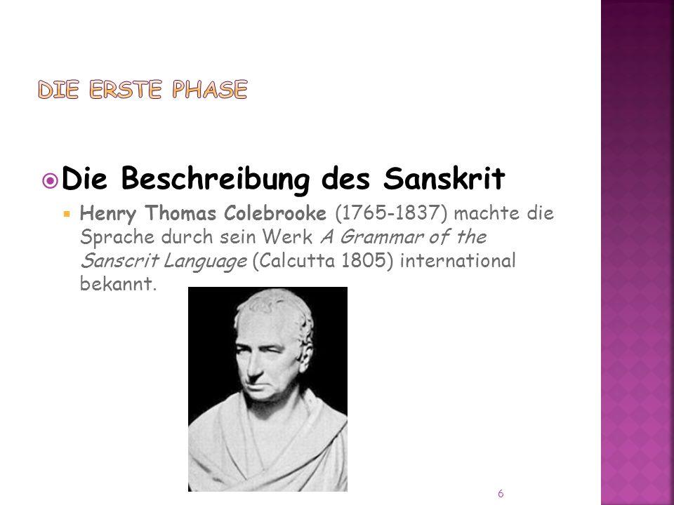 Die Beschreibung des Sanskrit