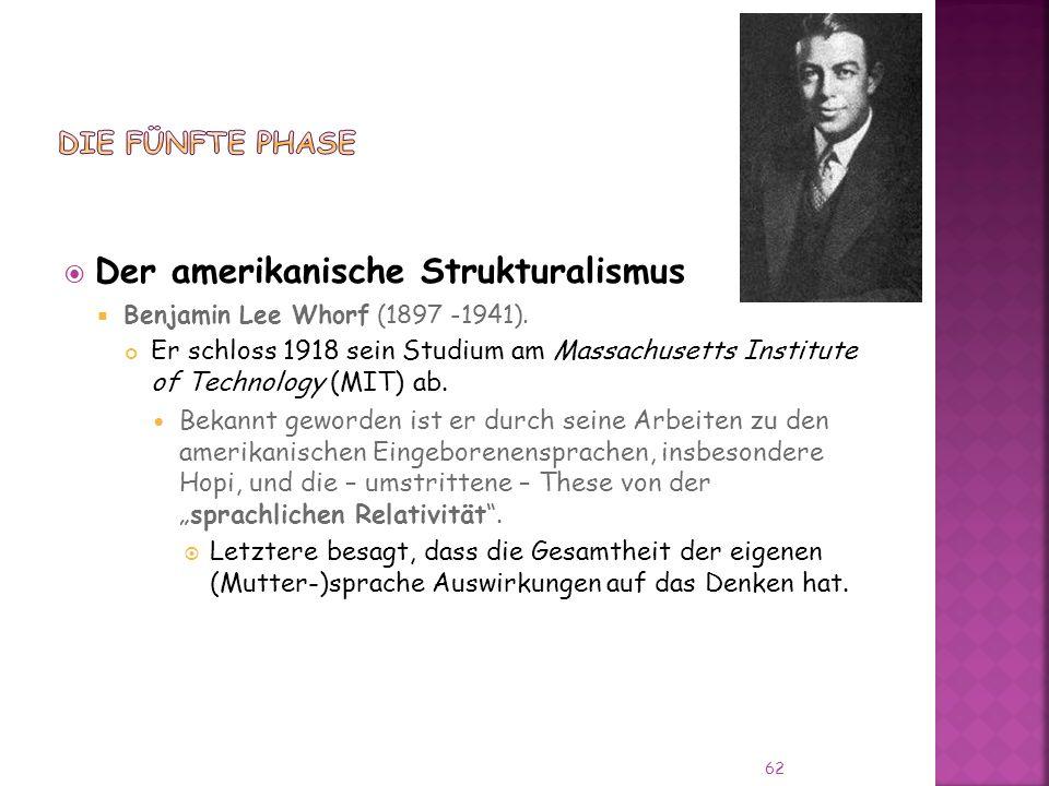 Der amerikanische Strukturalismus