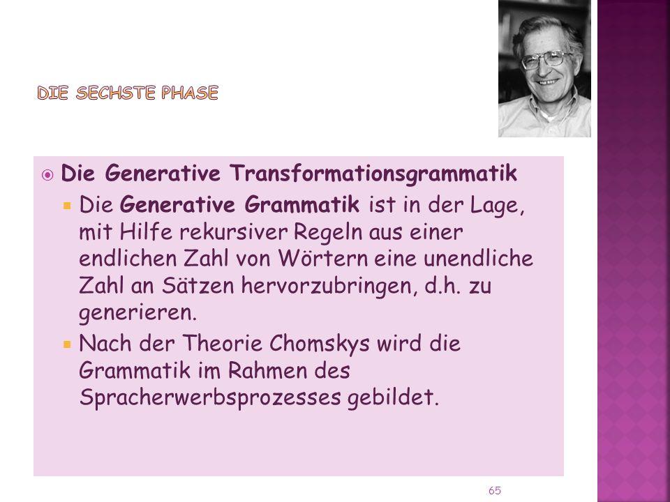 Die Generative Transformationsgrammatik