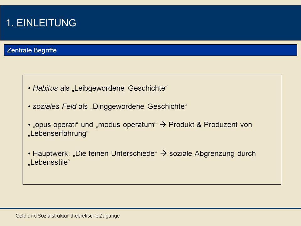 """1. EINLEITUNG Habitus als """"Leibgewordene Geschichte"""