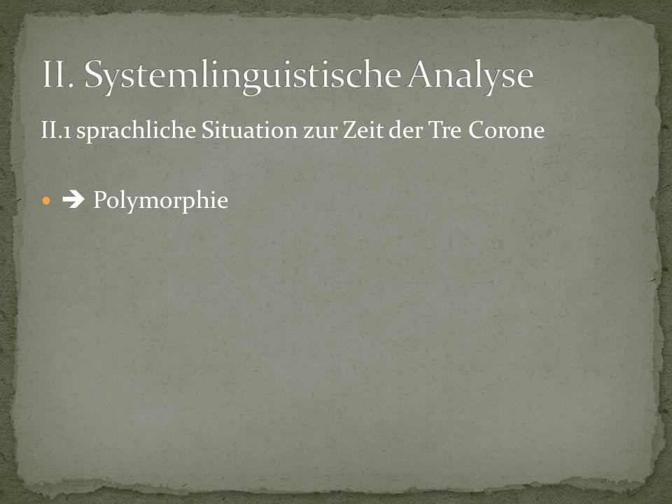 II. Systemlinguistische Analyse