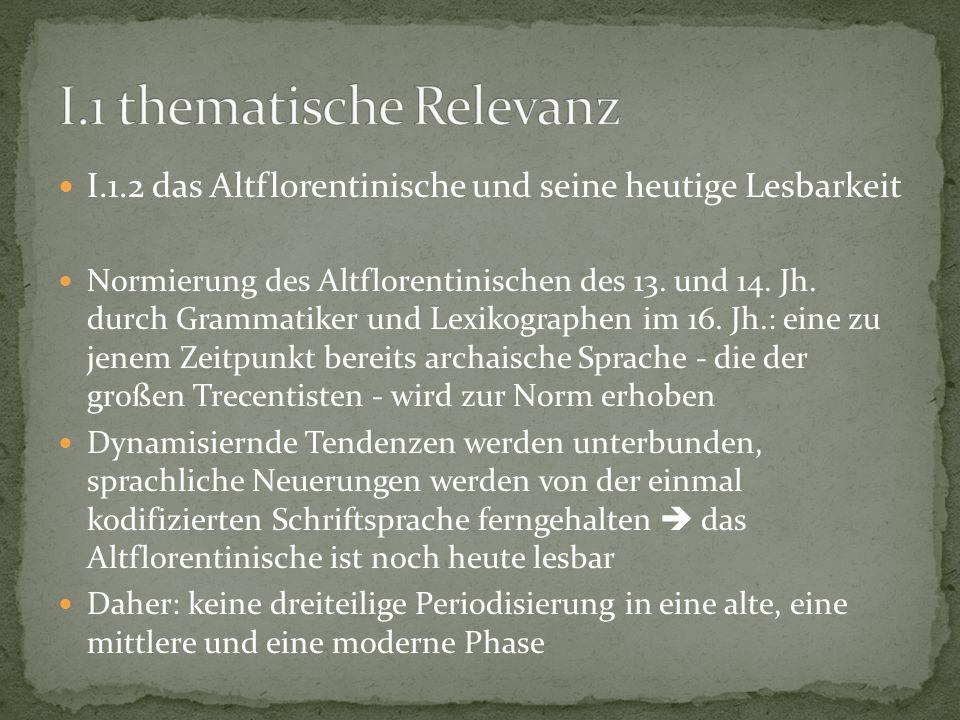I.1 thematische Relevanz