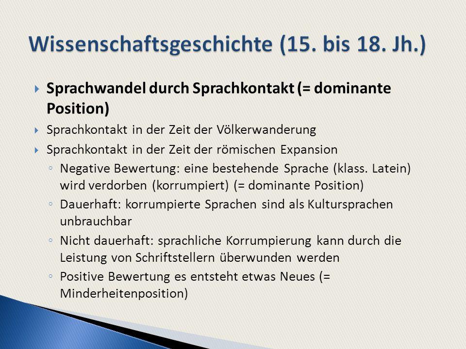 Wissenschaftsgeschichte (15. bis 18. Jh.)