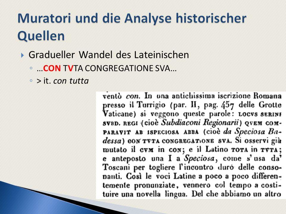 Muratori und die Analyse historischer Quellen