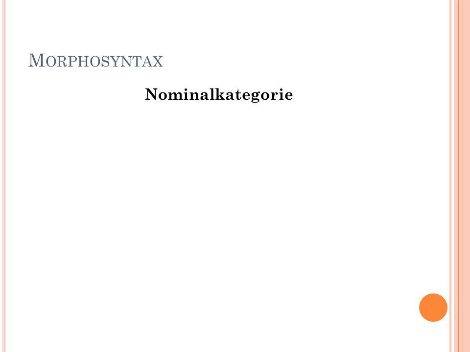 Morphosyntax Nominalkategorie