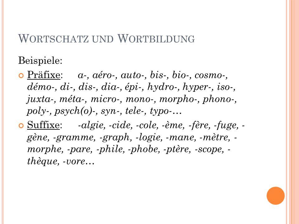 Wortschatz und Wortbildung