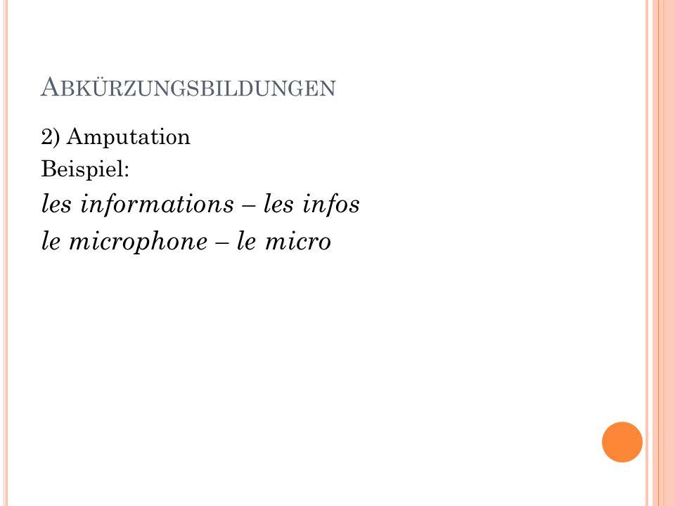 les informations – les infos le microphone – le micro